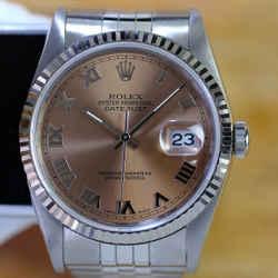 Rolex Datejust 16234 Stainless Steel Pink Salmon