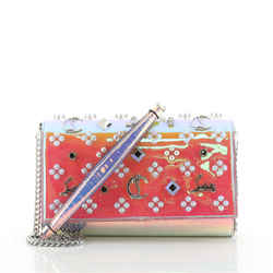 Paloma Clutch Holographic Spiked Leather