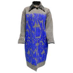 Marni Black Plaid Beads Of Blue Coat
