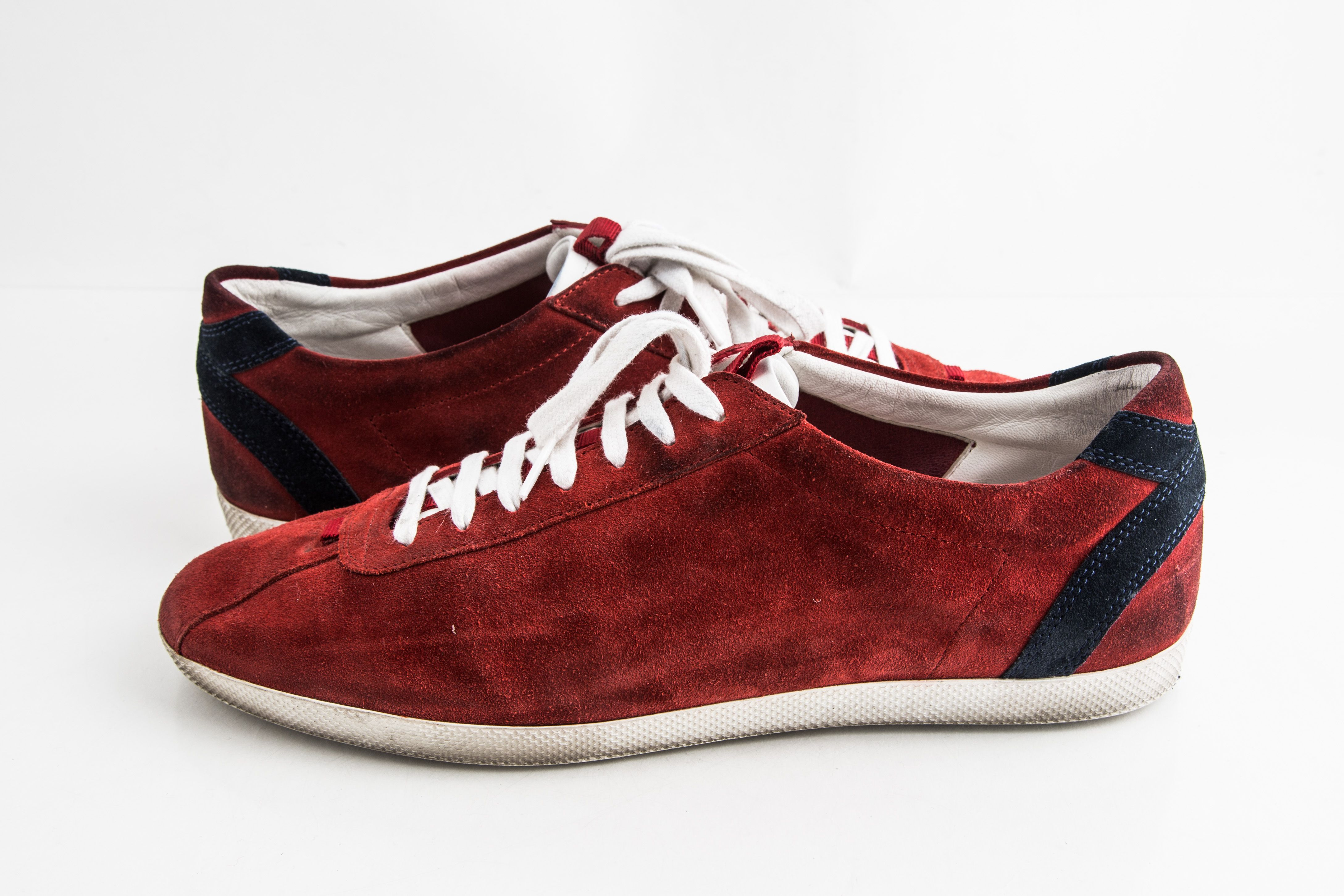 Gucci Suede Trainers Sneakers Softy Red