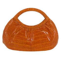 Nancy Gonzalez<br>Orange Crocodile Mini Bag