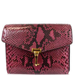 Burberry Macken Small Python Leather Crossbody Bag Magenta