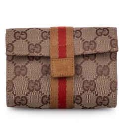 Brown Gucci GG Canvas Web Pouch