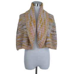 Missoni Orange Pink Cableknit Cashmere Sweater Cardigan, Sz. 6