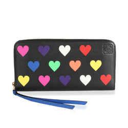 Loewe Multicolor Hearts Leather Zip-Around Wallet