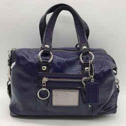 Coach Purple Patent Shoulder Bag