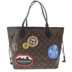 Auth Louis Vuitton Monogram Neverfull Mm Tote Bag My Lv World Tour M42844 Leathe