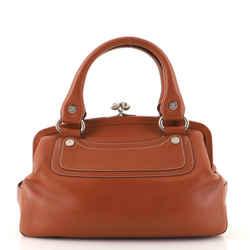 Vintage Kisslock Frame Bag Leather