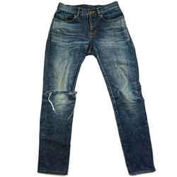 Saint Laurent - Ripped Jeans - Blue - Knee - Stitched Back Pocket - Us 29