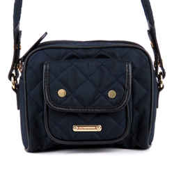 Vintage Authentic Burberry Blue Quilted Nylon Crossbody United Kingdom