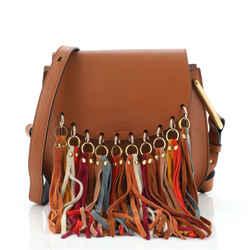 Multicolor Fringe Hudson Bag Leather Small