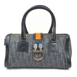 Christian Dior Navy x Orange Monogram Trotter Denim Boston Bag  863052