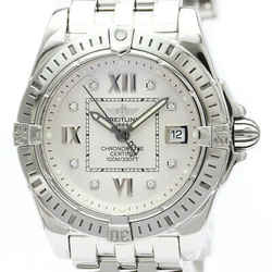 Polished BREITLING Cockpit Lady Diamond Quartz Ladies Watch A71356 BF514542