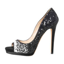 Oscar De La Renta High-heel Sequin Pumps