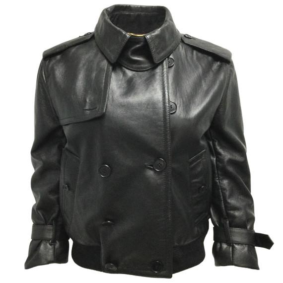 Saint Laurent Black Lambskin Jacket