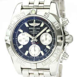 Polished BREITLING Chronomat 41 Steel Automatic Mens Watch AB0140 BF529345