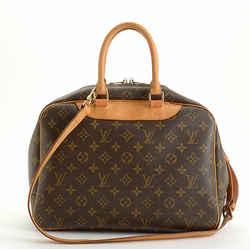 Rdc11040 Authentic Louis Vuitton Lv Monogram Deauville Bag W/strap