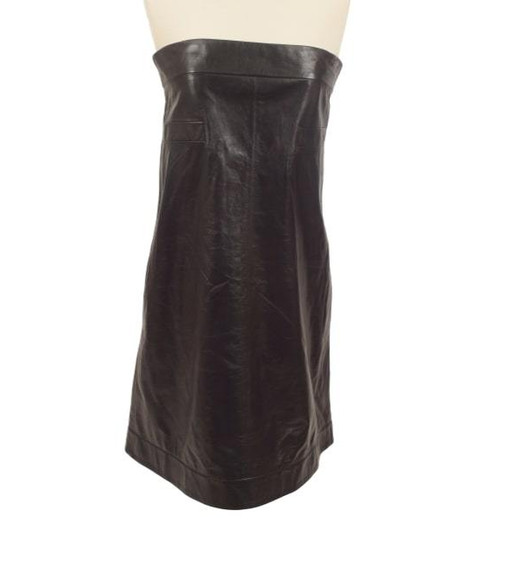 CHANEL Strapless Leather Dress