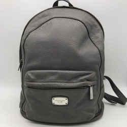 Michael Kors Grey Leather Backpack