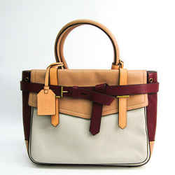 Reed Krakoff 25154 Women's Leather Tote Bag Light Gray,bordeaux,beige Bf504018