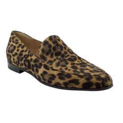 Gianvito Rossi Brown Marcel Leopard Flats