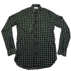 Saint Laurent - New - Plaid Shirt - Black White Button Down 14 - 36 - Small S