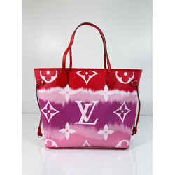 Louis Vuitton Limited Edition Giant Monogram Escale Neverfull MM in Rouge Tote Shoulder Handbag