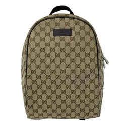 New Gucci Beige Brown Monogram Canvas GG Guccissima Backpack Rucksack Shoulder Bag