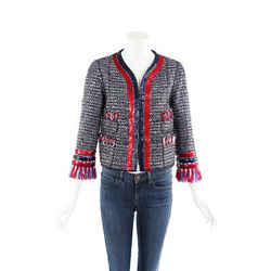 Marc Jacobs Jacket Multicolor Tweed Fringe SZ 6