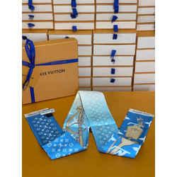 Louis Vuitton Gradient Bandeau Neckerchief Twilly Chocker Bandanna Scarf Wrap 47.2L x 3.1H