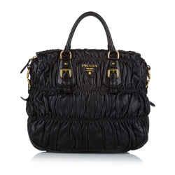 Black Prada Nappa Gaufre Handbag Bag