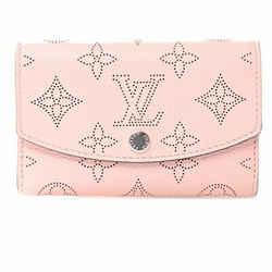 Auth Louis Vuitton Louis Vuitton Mahina Portomonet Anae Coin Case Purse Pink Lea