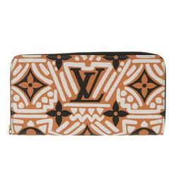 Auth Louis Vuitton Lv Crafty Zippy Wallet Long Claim Caramel M69437 Leather
