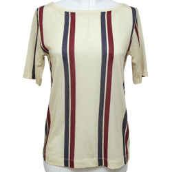 DRIES VAN NOTEN T-Shirt Top Striped Short Sleeve Cotton Sz XS NWT