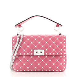 Free Rockstud Spike Flap Bag Quilted Leather Medium
