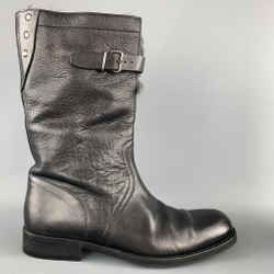 Gucci Size Us 8.5 Black Leather Fur Lined Calf Boots