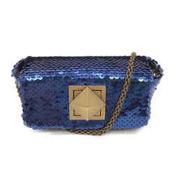 Sonia Rykiel Flap Blue Sequins Bag