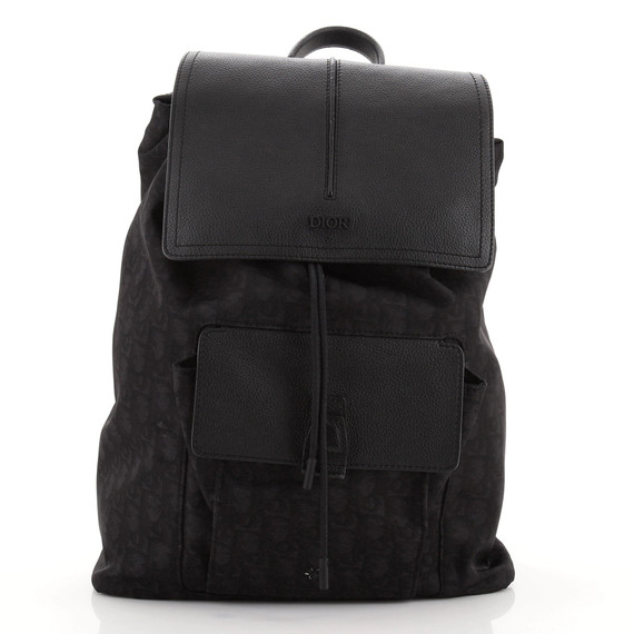 Motion Backpack Oblique Nylon with Leather Medium