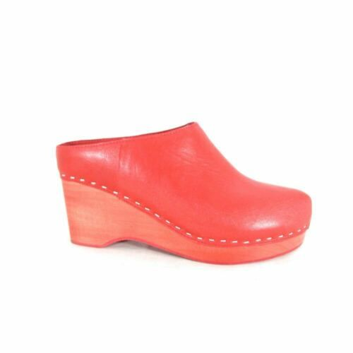 Kelsi Dagger Anthropologie Red Leather