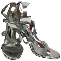 Tom Ford Silver With Ankle Cuff Sandals Size: EU 38 (Approx. US 8) Regular (M, B) Item #: 23313008