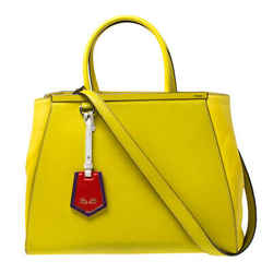Fendi Yellow Leather Medium 2jours Tote