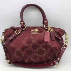 Coach Purple Monogram Shoulder Bag