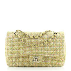 Classic Double Flap Bag Quilted Tweed Medium