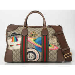 Gucci GG Supreme Web Monogram Night Courrier Carry On Duffle Bag