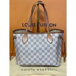 Louis Vuitton Damier Azur Neverfull Pm Shoulder Tote Bag 11.4L x 5.1W x 8.7H