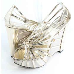 Dior Patent Leather Strappy Platform Wedge Sandals