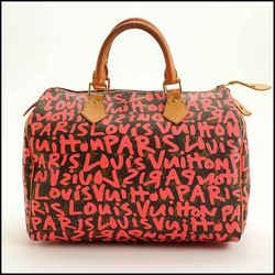 Rdc11520 Authentic Louis Vuitton Stephen Sprouse Pink Graffiti Speedy 30 Bag