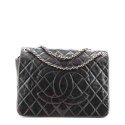 CC Messenger Bag Quilted Glazed Aged Calfskin Medium