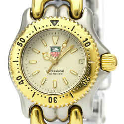 Polished TAG HEUER Sel 200M Gold Plated Steel Ladies Watch S95.708 BF526569