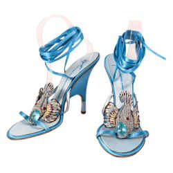 Giuseppe Zanotti Blue Coyfish Sandals